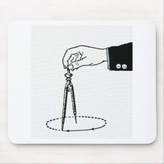 Math Teacher Compass Mouse Pad