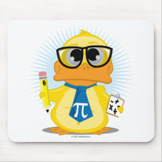 Math Teacher Duck Mouse Pad