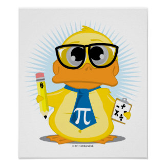 Math Teacher Duck Poster