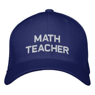 Math Teacher Embroidered Hat