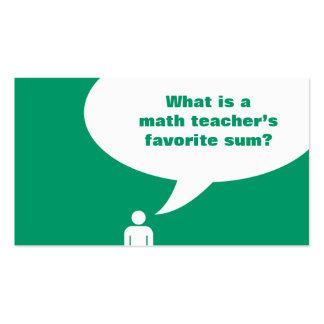 math teacher joke pack of standard business cards