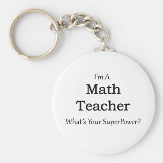 Math Teacher Keychain
