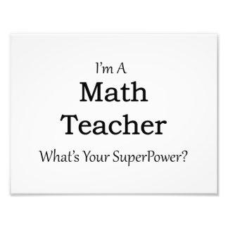 Math Teacher Photo Art