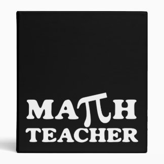Math Teacher Pi Binder