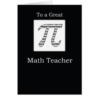 Math Teacher Pi Day Black Card
