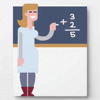 Math Teacher Plaque