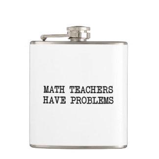 Math Teacher Problem Hip Flask