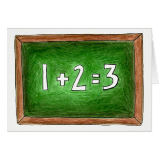 Math Teacher Slate Chalkboard School Classroom Card