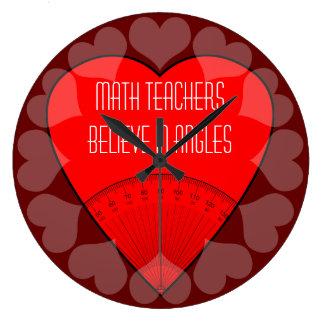 Math Teachers Believe In Angles Wall Clocks