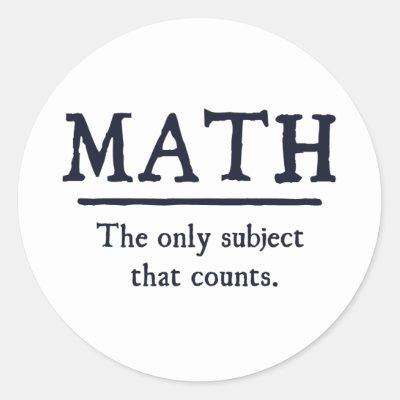 Math wiz in training classic round sticker zazzle ca