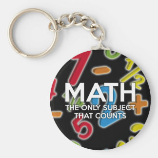 Math. The only subject that counts Keychain