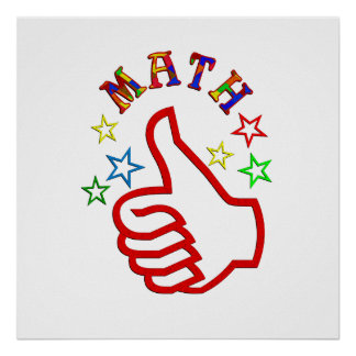 Math Thumbs Up Poster