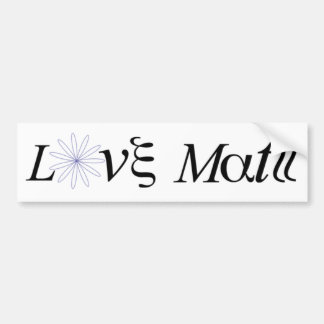 Math Tribute Bumper Sticker