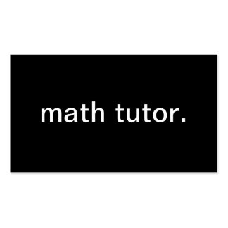 Math Tutor Business Card Template