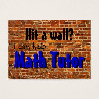 Math Tutor ... hit a wall? Business Card