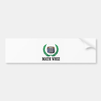 math whiz kid bumper sticker