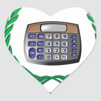 math whiz kid heart sticker