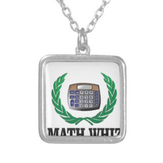 math whiz kid silver plated necklace
