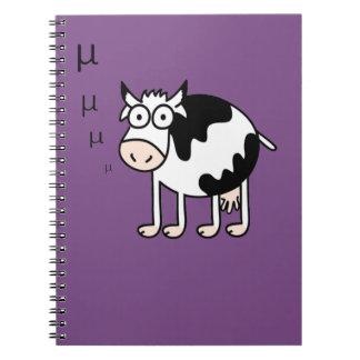 Mathematical Cow Goes Mu T-Shirt Spiral Notebook
