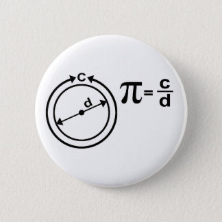 Mathematical Definition of Pi 2 Inch Round Button