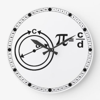 Mathematical Definition of Pi Wall Clocks