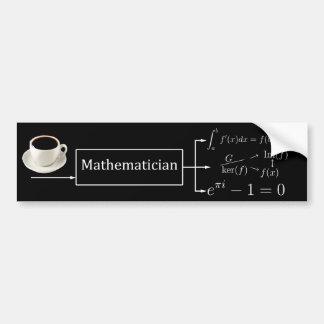 Mathematician machine (black) bumper stickers