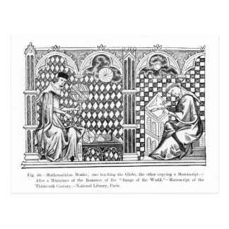 Mathematician Monks: one teaching the Globe Postcard