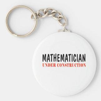 Mathematician _ under construction keychain