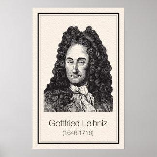 Mathematicians - Leibniz Poster