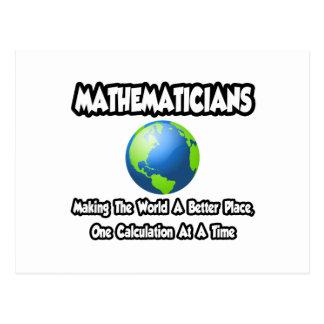Mathematicians...Making the World a Better Place Postcard