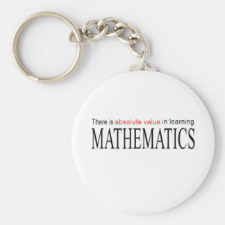 Mathematics _ absolute value in learning basic round button keychain