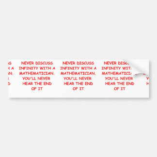 mathematics bumper sticker