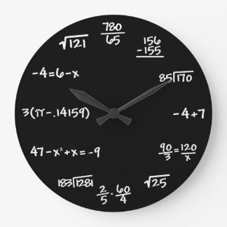 Mathematics Chalkboard Clock - Mathematician
