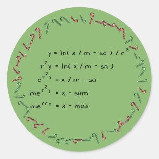 Mathematics Christmas Wish Classic Round Sticker