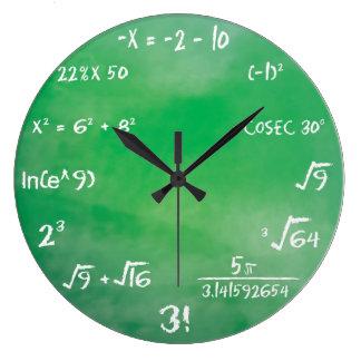 Mathematics Equation Quiz for Geeks Large Clock