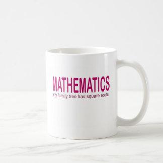 Mathematics _ my family tree has square roots coffee mug
