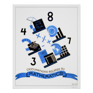 Mathematics Occupations 1936 WPA Poster