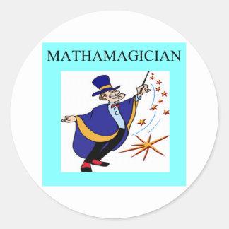 mathematics rules classic round sticker