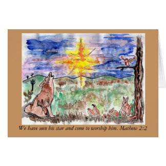 Mathew 2:2 Chistmas Star Card