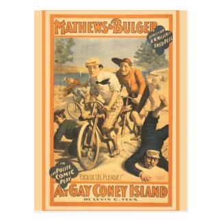 Mathew and Bulger at Gay Coney Island Postcard