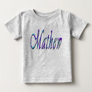 Mathew, Name, Logo, Baby's Grey T-shirt