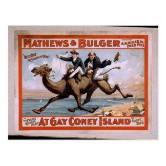 Mathews & Bulger, 'At Gay Coney Island' Vintage Th Postcard