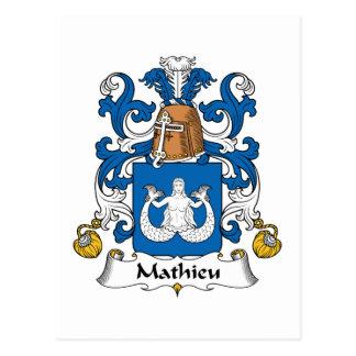Mathieu Family Crest Postcard