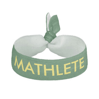MATHLETE Green and Yellow Hair Tie