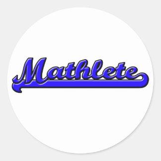 Mathlete Round Sticker