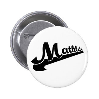 Mathlete slogan for math lovers 2 inch round button