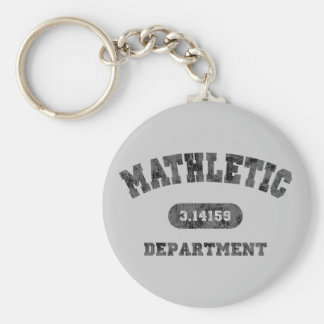 Mathletic Department Basic Round Button Keychain