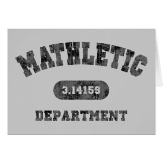 Mathletic Department Card