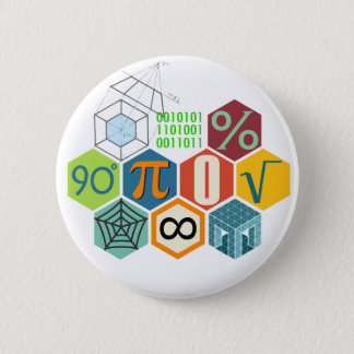 maths 2 inch round button