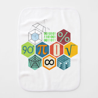 maths burp cloth